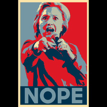 HILLARY HOPE POSTER NOPE