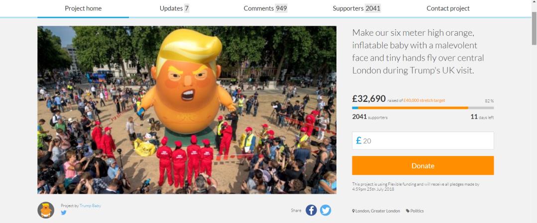 trump blimp crowdfunder